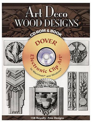 «Art Deco Wood Designs. CD-ROM and Book» - обложка книги