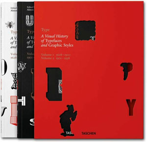 «Type. A Visual History of Typefaces & Graphic Styles » - обложка книги
